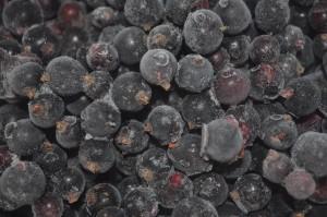 Frozen blackcurrants - a taste of summer